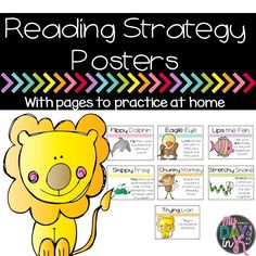 Reading Strategy Posters with pages to practice at home