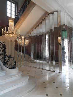 Veuve Clicquot's Hôtel du Marc by Bruno Moinard Bruno Moinard, Veuve Cliquot, Clicquot, French Mansion, Gazebo, Architecture Design, Hall Of Mirrors, Mirror Mirror, Mirror Ideas