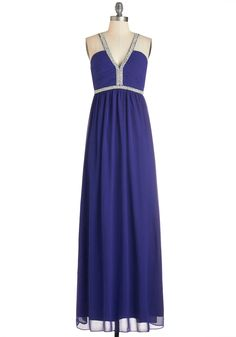 Uptown Pearl Dress. You feel oh-so-fine when youre walking around in this dazzling sapphire-blue gown! #blue #prom #modcloth