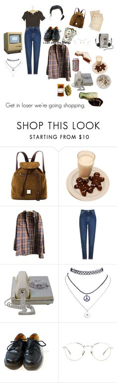 """""""90s teen"""" by soggybread ❤ liked on Polyvore featuring Cultura, Dooney & Bourke, Timberland, Origins, Topshop, Ash, Wet Seal, Dr. Martens, Linda Farrow and xO Design"""