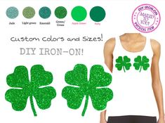 A personal favorite from my Etsy shop https://www.etsy.com/listing/582364497/chest-clover-shamrocks-iron-on-applique