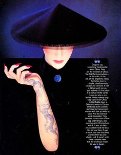 Serge Lutens, Shiseido, Elle US 1993