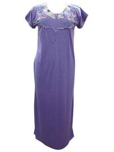 Summer Sleepwear New Trendy Embroidered Fashion Nighty