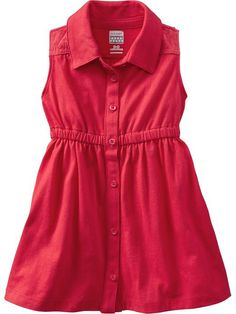 Old Navy | Button-Front Jersey Dresses for Toddler girl $15. Casual Valentine's Day photoshoot