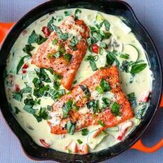 """Thai Coconut Green Curry Salmon Recipost Reciposter """"The Defined Dish"""" """"Dallas food Blogger"""" thai, whole30, paleo, cleaneating, healthydinner, 30minutemeal, curry, greencurry"""