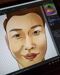 #sneakpeak at my next #portrait #art #illustration #illustrator #design #designer #graphicdesign #graphic #tablet #surface #surfacepro #krita