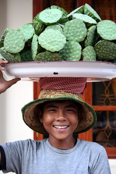 Lotus seed for sale in Cambodia....by *omnia*