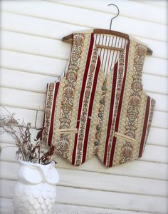 The Folk SInger: Men's Boho Tapestry Vest Vintage by iTinkStudios
