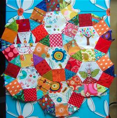 Ferris wheel patchwork. English paper piecing. | Flickr - Photo Sharing!