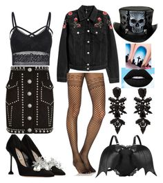 """""""Untitled #493"""" by denis-bogdan-siminiuc on Polyvore featuring Balmain and Commando"""