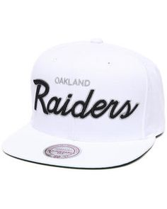 Mitchell & Ness | Oakland Raiders Nfl Throwbacks All White Snapback Hat. Get it at DrJays.com