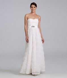 Adrianna Papell Cap-Sleeve Lace Gown   Adrianna papell, Dillards ...