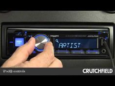 Alpine CDE-SXM145BT Car CD Receiver Display and Controls Demo | Crutchfield Video - YouTube #Alpine #CarAudio #CarReceiver
