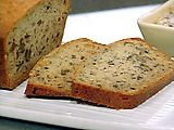 emeril's banana bread.  i've made this with vanilla yogurt as a substitue to the sour cream and it was awesome