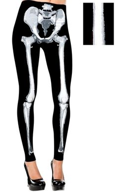 Footless Skeleton Leggings for Adults - Party City