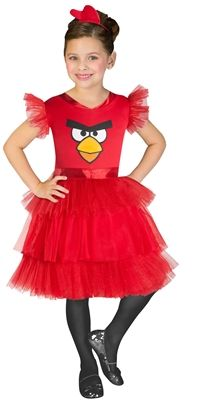 Girls' Angry Birds Costume - Red Bird