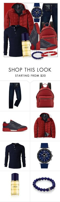 """Fall Men's Wear"" by fashionchronicles365 ❤ liked on Polyvore featuring Armani Jeans, Salvatore Ferragamo, STELLA McCARTNEY, Lands' End, BOSS Hugo Boss, Yves Saint Laurent, King Baby Studio, John Hardy, men's fashion and menswear"