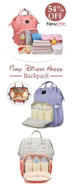 Waterproof Insulated Thermal 5pcs Baby Nappy Changing Hospital Bags Diaper Tote
