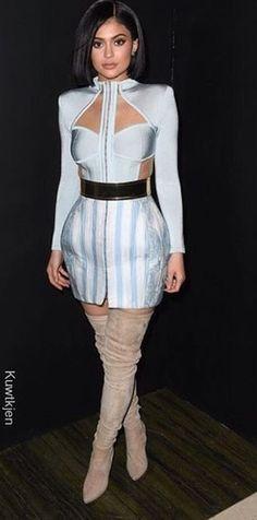Kylie Jenner in Balmain
