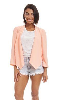 Bright Coral Blazer #bright #coral #fitted #blazer #summer #outerwear