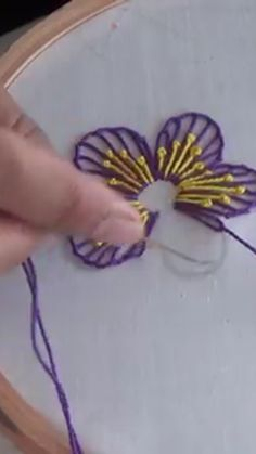 Best 12 Butterflies crochet/sew – Page 164381455135637105 – SkillOfKing. Crazy Quilt Stitches, Basic Embroidery Stitches, Hand Embroidery Tutorial, Wool Embroidery, Simple Embroidery, Learn Embroidery, Embroidery Hoop Art, Wool Applique, Embroidery Techniques
