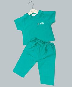 Look at this Teal Personalized Scrubs Set - Infant, Toddler & Girls on #zulily today!