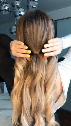 Easy Hairstyles For Long Hair, Heatless Hairstyles, Long Hair Casual Updo, Easy Bun Hairstyles For Long Hair, Hairstyles For Women, Easy Hairstyle Video, Step By Step Hairstyles, Long Haircuts, Hairstyles Videos