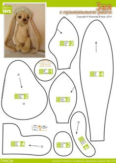 12 Sewing Patterns Tips – What About Amazing Easy Sewing Projects ? Plushie Patterns, Animal Sewing Patterns, Sewing Patterns Free, Doll Patterns, Pretty Toys Patterns, Stitching Patterns, Pattern Sewing, Baby Knitting Patterns, Free Sewing