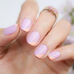 Two-tone nails www.ScarlettAvery.com