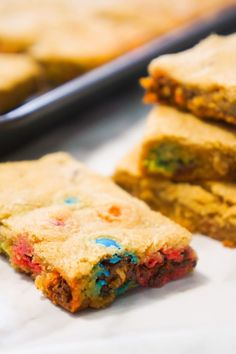 Easy peanut butter cookie bar recipe