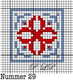 Nummer 29 Cross Patterns, Weaving Patterns, Counted Cross Stitch Patterns, Cross Stitch Designs, Cross Stitch Embroidery, Russian Cross Stitch, Cross Stitch Heart, Simple Cross Stitch, Norwegian Knitting