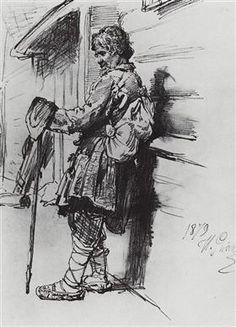 A beggar with a bag - Ilya Repin