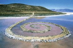 Featured Work: Robert Smithson, Spiral Jetty, 1970 // Category: Land Art and Earthworks // artandantiquesmag.com