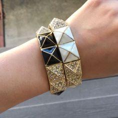 T&J Designs White Pyramid Bracelet