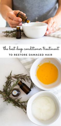 Homemade deep conditioner treatment can be just the thing your damaged hair needs. Keep reading for 3-DIY deep conditioner treatments you can make at home that will leave your hair soft. smooth, and moisturized. All of these homemade hair treatments are made with all-natural ingredients, simple to make, and cost-effective. #naturalhaircare #deepconditionertreatment #hairtreatment #haircare #diyhaircare #diyconditioner Homemade Deep Conditioner, Diy Conditioner, Organic Hair Care, Natural Hair Care Tips, Natural Beauty, Natural Haircare, Natural Products, Homemade Hair Treatments, Hair Care Recipes