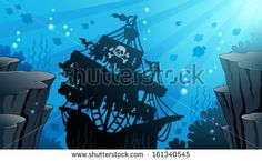 Shipwreck theme image 1 - eps10 vector illustration. - stock vector