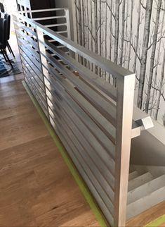 Interior Railings Vancouver - Aluminum Guardrail & Handrails (Commercial / Residential) - Metro Vancouver Railings Glass Stair Balustrade, Interior Railings, Glass Stairs, Modern Glass, Vancouver, Divider, Commercial, Loft, Furniture