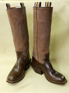 Bishop Handmade Boots, Chocolate Brown Wax Calf, Chic fa lay tops Custom Cowboy Boots, Western Boots, Buckaroo Boots, Western Movies, Cool Boots, Chocolate Brown, Knee High Boots, Cowboy Hats, Riding Boots