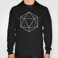 Icosahedron sweatshirt by Beth Thompson