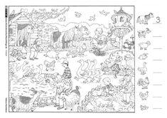 ausmalbilder bauernhof 01 | schoul | coloring pages, kindergarten und farm unit
