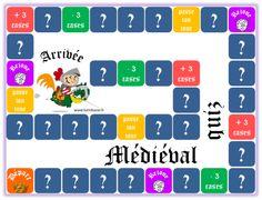 Médiéval-quiz (jeu de plateau sur le Moyen Age) - Chez Lutin Bazar