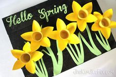 spring daffodils from keurig k cups, crafts, easter decorations, flowers, home decor