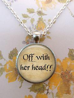 Alice In Wonderland Necklace Queen of Hearts by teaANDtentacles, $8.75