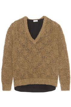 Brunello Cucinelli - Bouclé-knit Cotton-blend Sweater - Camel - xx small