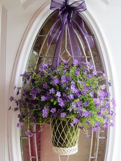 Door Wreath, Summer Wreath, Wall Pocket, Wreath, Spring Wreath Beautifully arranged purple floral door wreath with green moss inside a Front Door Decor, Wreaths For Front Door, Door Wreaths, Front Porch, Country Wreaths, Boxwood Wreath, Spring Door, Arte Floral, Summer Wreath
