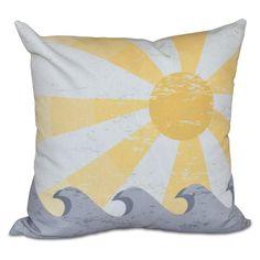 E by Design Hang Ten Sunbeams Decorative Pillow