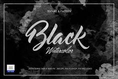 Black Dark Watercolor Texture by sagesmaskelement on @creativemarket