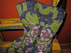 vtg heavily BEADED FLORAL bag by faintofheartvintage on Etsy, $45.00