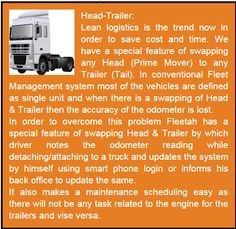 Head-Trailer - Fleetah has a special feature of swapping Head & Trailer without losing the accuracy of odometer