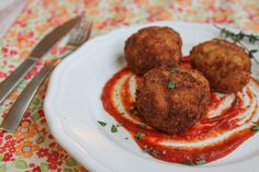 Fried Beer and Gouda Risotto Balls (Arancini)